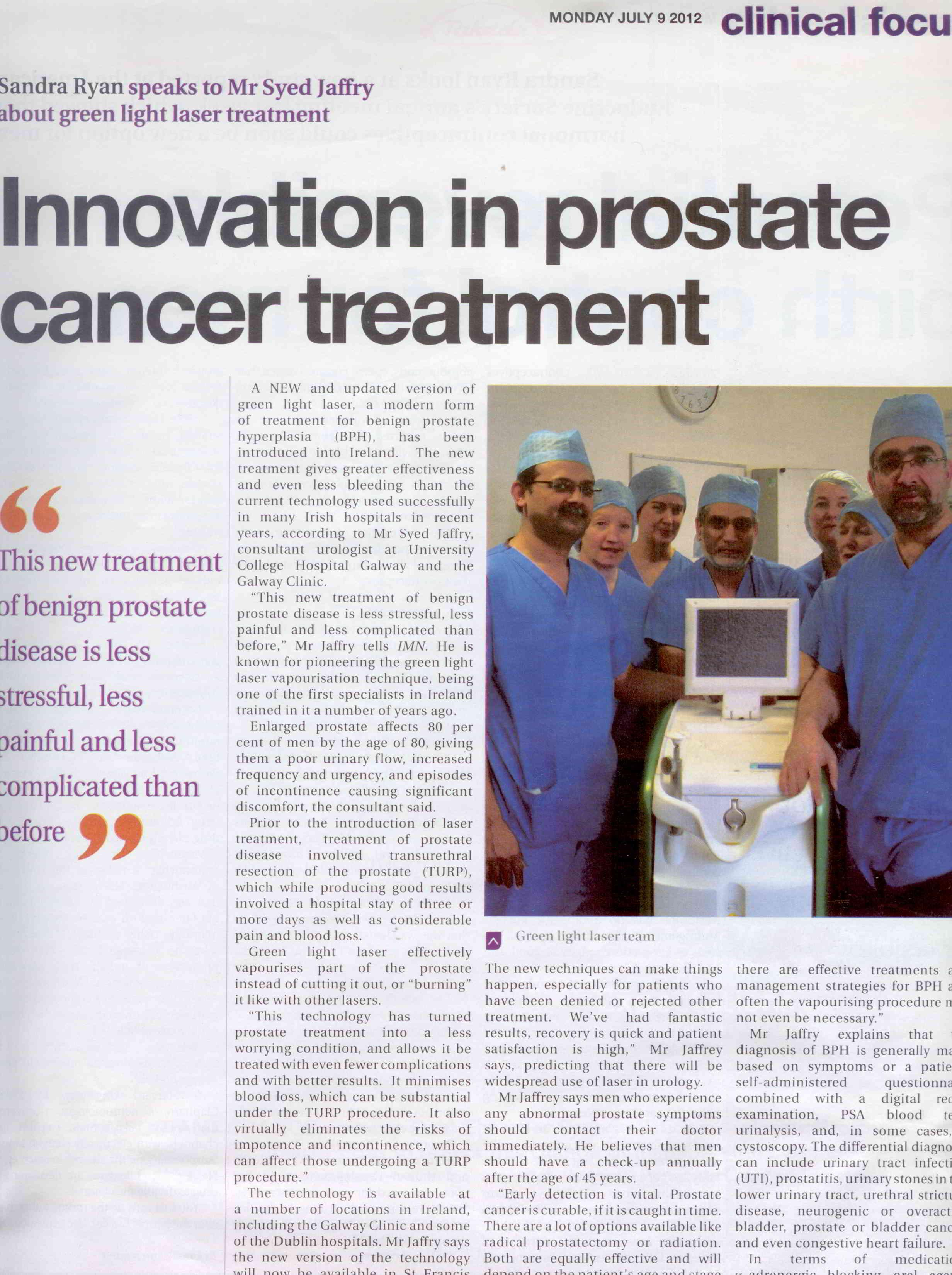 Innovation in Prostate Cancer Treatment